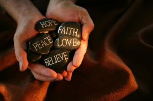 hands, rocks, faith, peace, love, believe